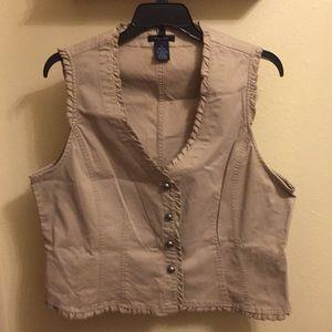 Soft cotton Beige vest. Very cute